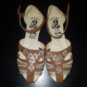 e1deb65be42 Bollywood Indian Inspired Ankle Strap Flats NWOT